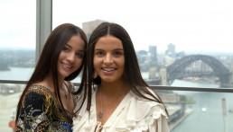Britt with sister Nat