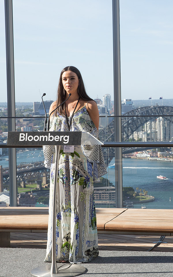 Brittany speaking at the 2018 GO Launch