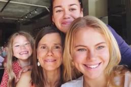 Lua Pellegrini with family